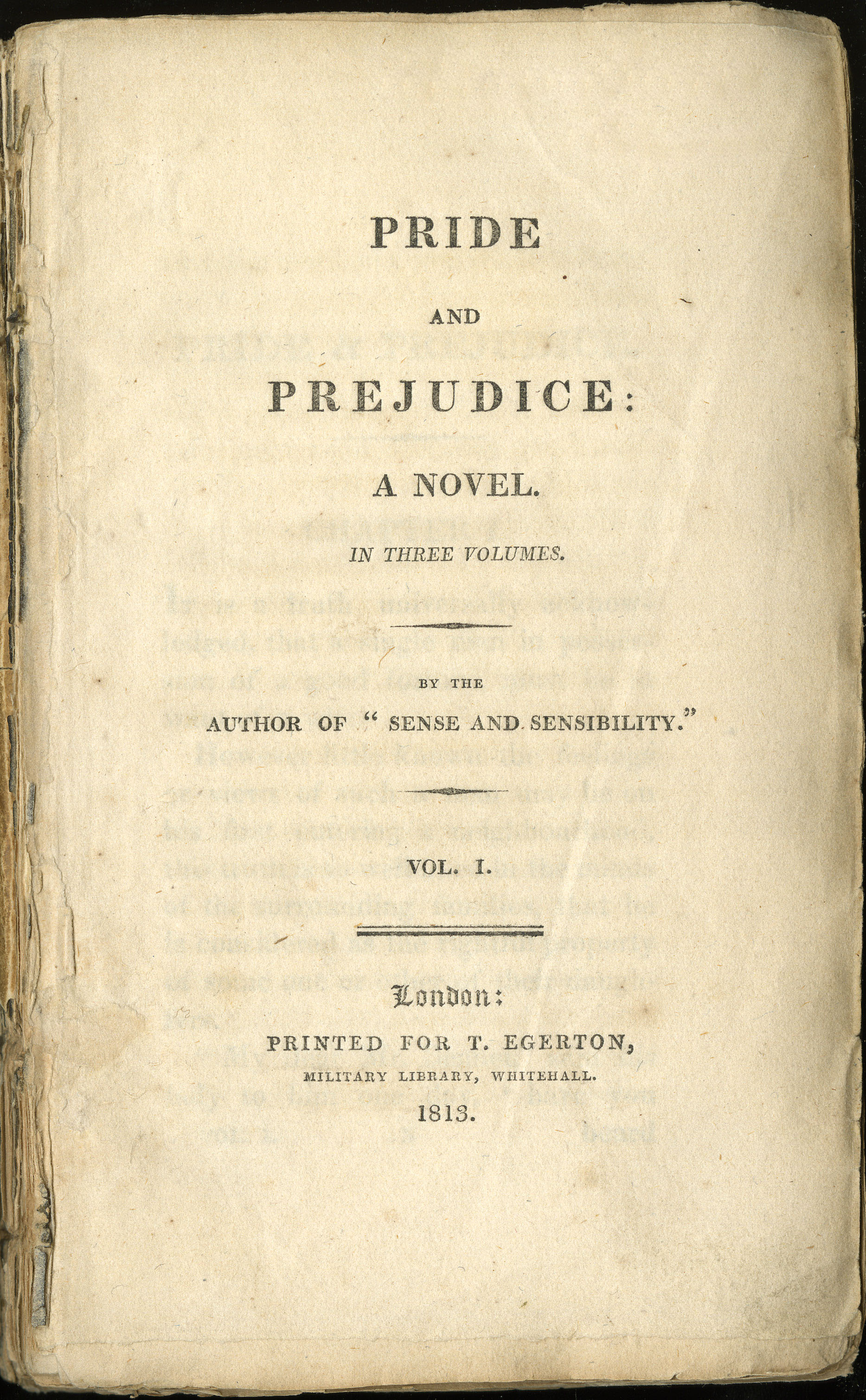 Title page for the first edition