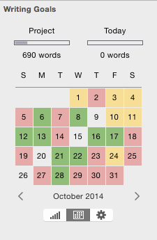 Storyist 3 Project Progress Calendar