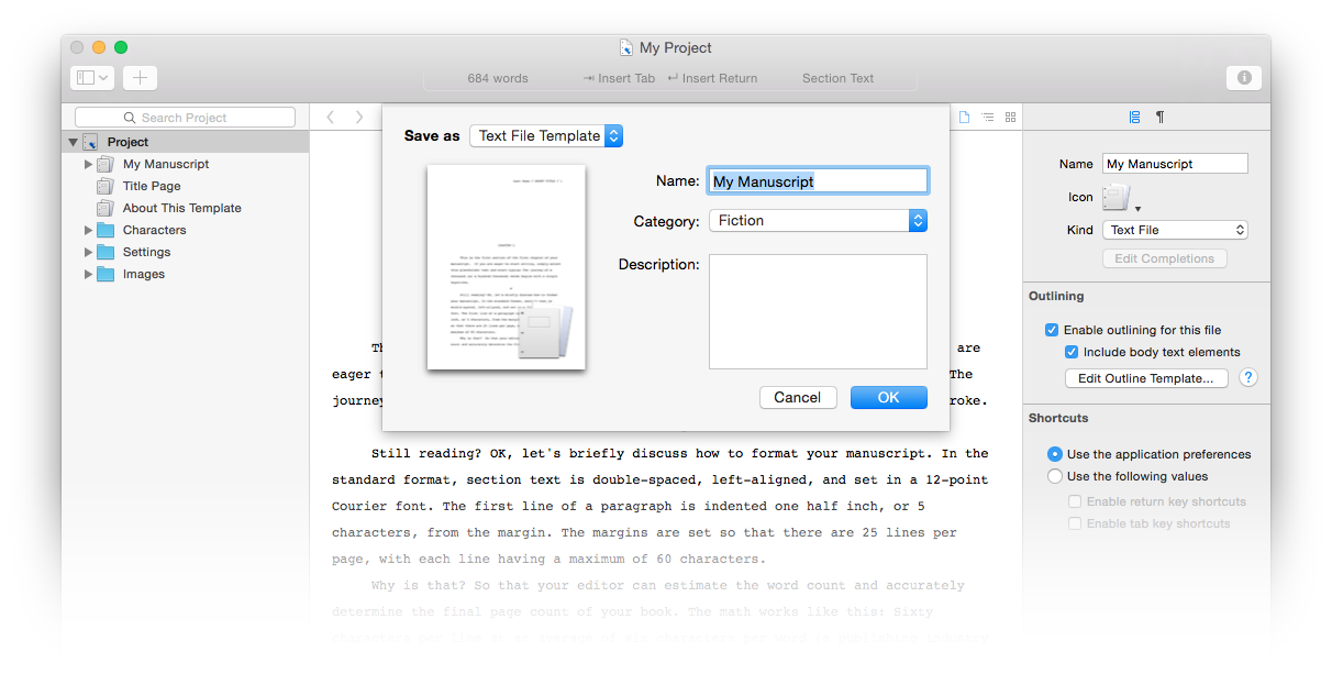Storyist 3 File Templates